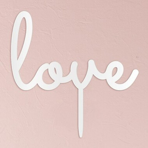 """""""Love"""" Wedding Cake Topper Acrylic White - (Duplicate Imported from BigCommerce)"""