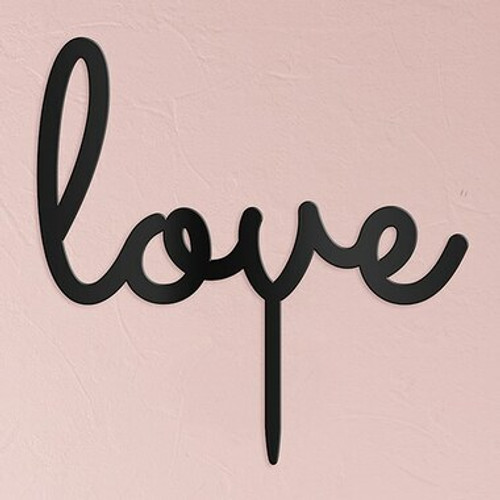 """""""Love"""" Wedding Cake Topper Acrylic Black - (Duplicate Imported from BigCommerce)"""