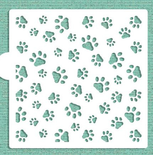Dogs Paw Mini Cake or Cookie Stencil