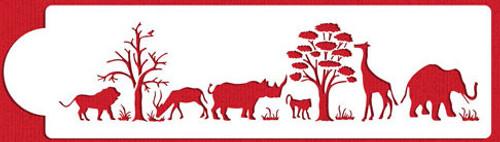 Safari Animal Silhouette Stencil