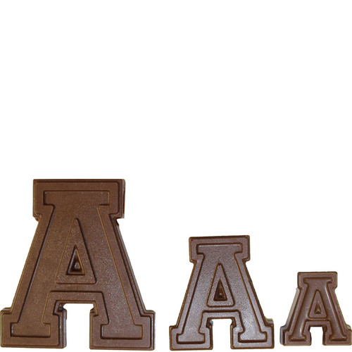 Letter A Collegiate Chocolate Mold