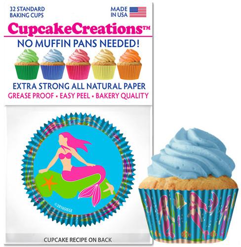 Mermaid Cupcake Liners