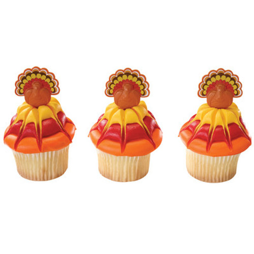 Turkey Cake and Cupcake Toppers ( 6 pc )