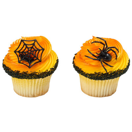 Spider and Web Cake and Cupcake Toppers