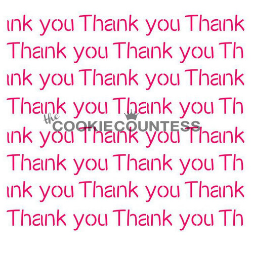 Thank You Repeat Cookie Stencil