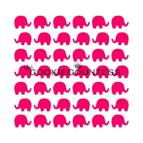 Elephants Cookie Stencil