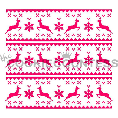 Fair Isle Sweater Cookie Stencil