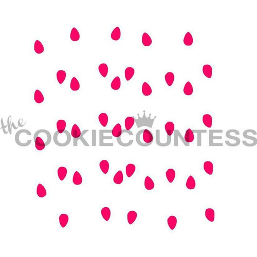 Christmas Lights Cookie Stencil