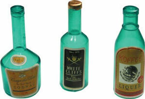 Liquor Bottles Cake or Cupcake Topper ( 6 pc )