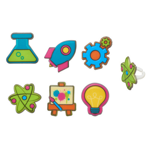 Technology Cake or Cupcake Toppers