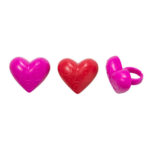 Scroll Hearts Cake and Cupcake Toppers