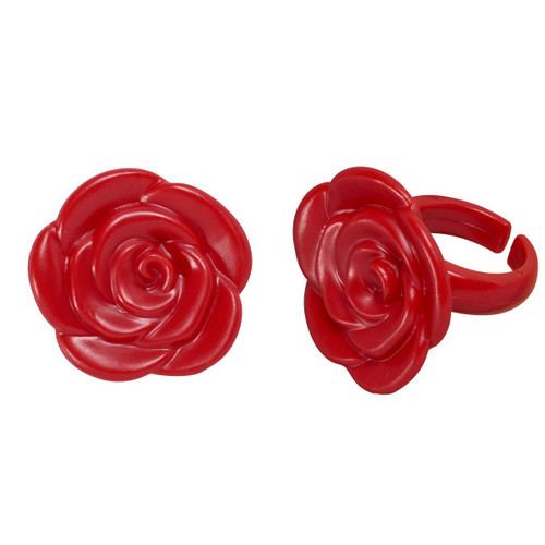 Red Rose Cake and Cupcake Topper