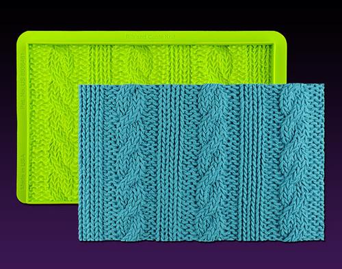 Rib & Cable Knit Simpress Silicone Mold