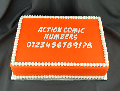 Action Comic Numbers Silicone Mold