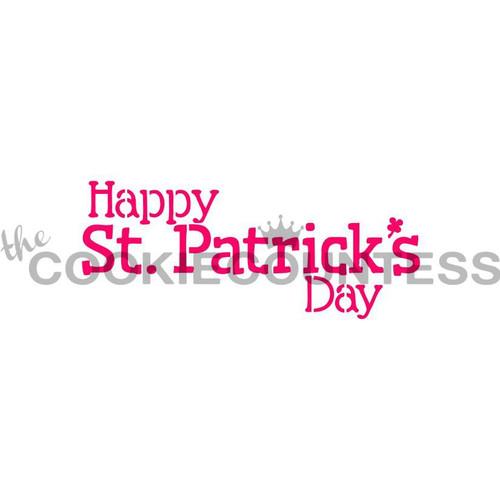 Happy St Patrick's Day Cookie Stencil