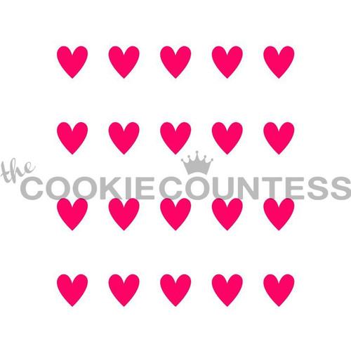 Hearts Harlequin Companion Cookie Stencil