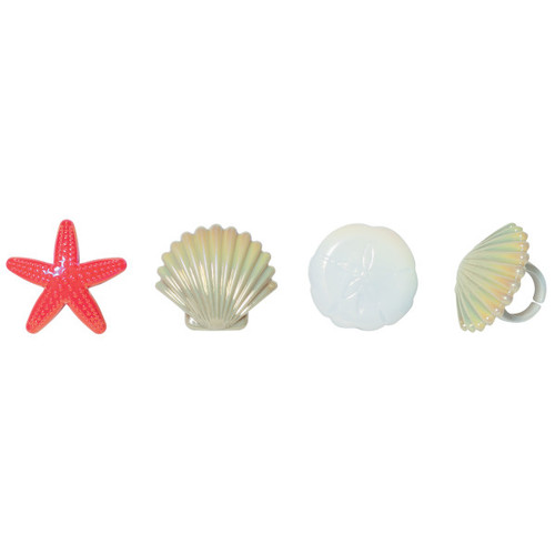 Sea Shell Cupcake Toppers