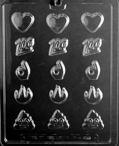 Emojis Assorted Chocolate Mold