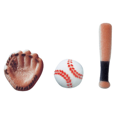 Baseball Molded Pressed Sugars