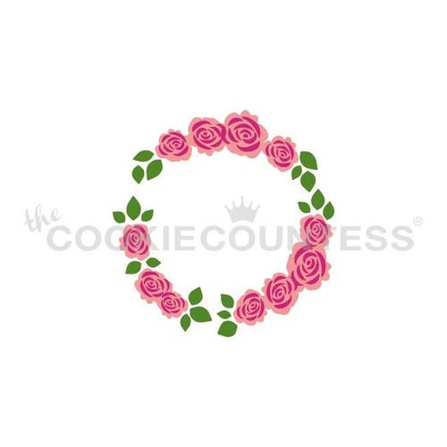 Floral Wreath Cookie Stencil