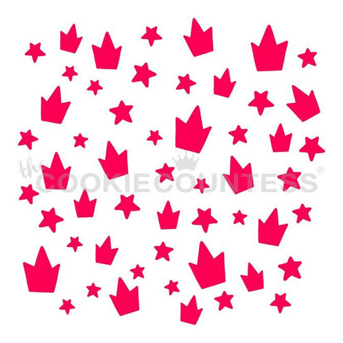 Crowns and Stars Cookie Stencil