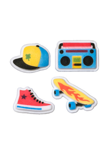 Skate Themed Assorted Pressed Sugars
