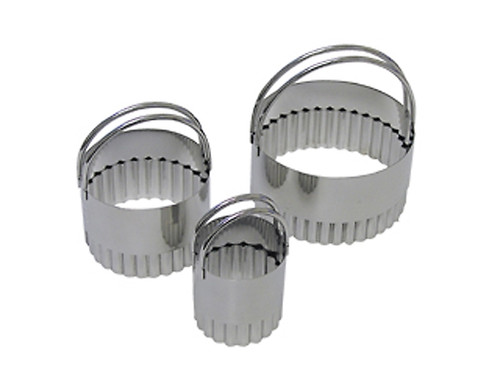 Biscuit Fluted Cookie Cutter Set