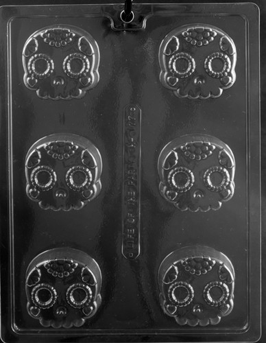Day of the Dead Cookie Chocolate Mold