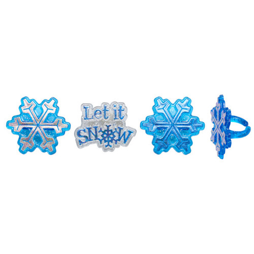 Let it Snow Cake and Cupcake Toppers