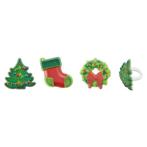 Whimsical Christmas Cake and Cupcake Toppers