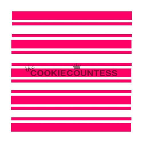 Preppy Stripes Cookie Stencil