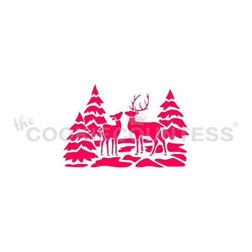Deer Scenery Cookie Stencil