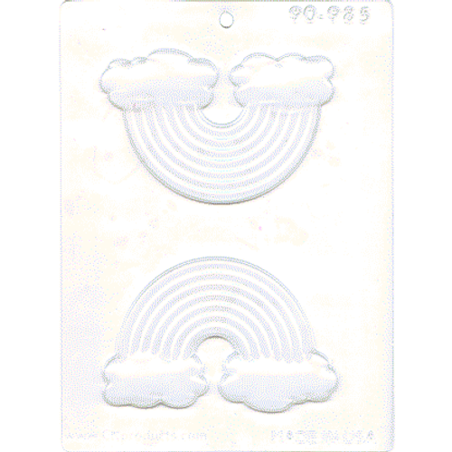 Rainbow with Clouds Chocolate Mold