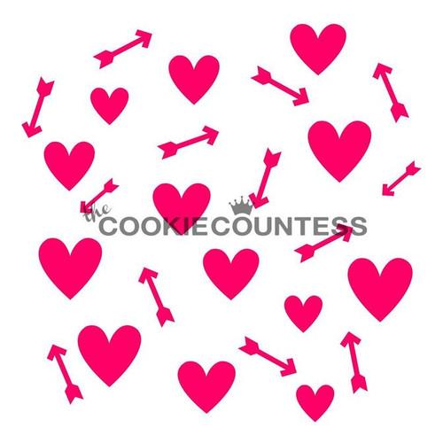 Hearts & Arrows Cookie Stencil