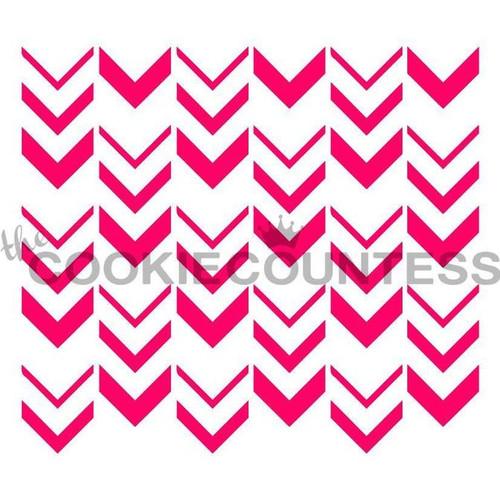 Ombre Arrow Cookie Stencil