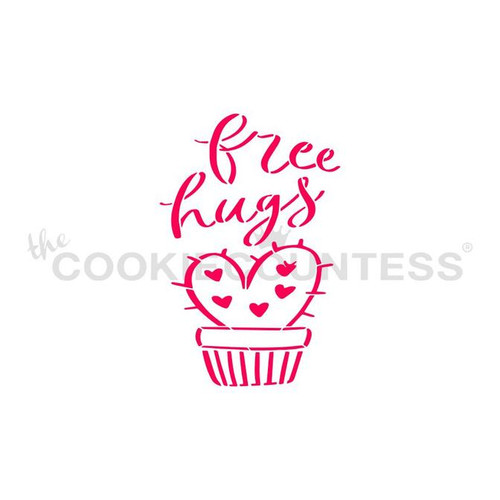 Free Hugs PYO Cookie Stencil