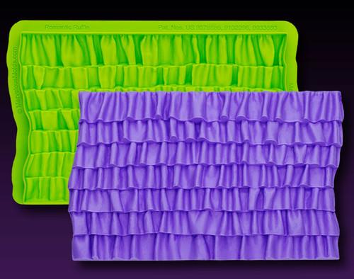 Romantic Ruffle Simpress Silicone Molds