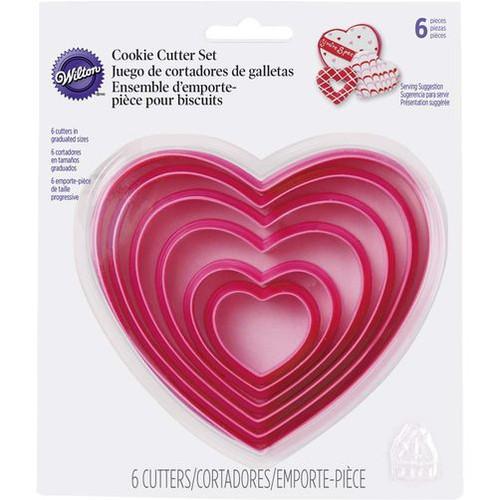 Heart Cookie Cutter Set 6 pc