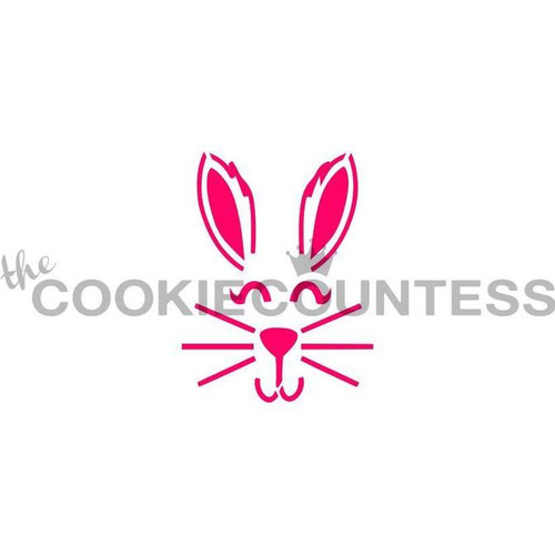 Bunny Face Cookie Stencil