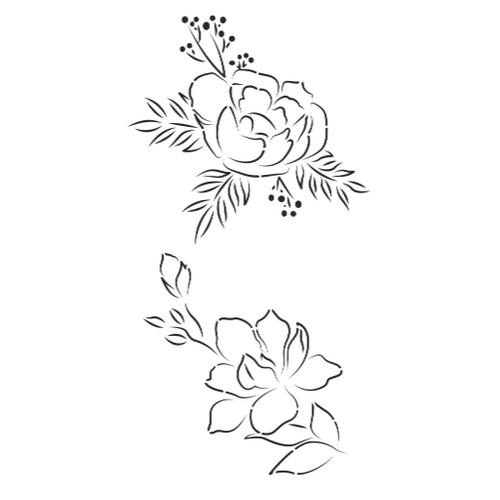 Bloom I Cake Stencil