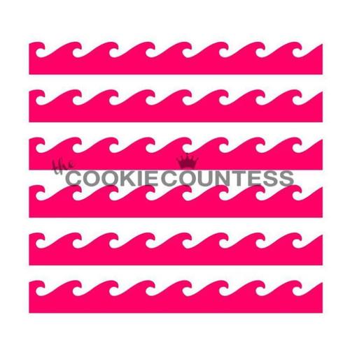 Waves Cookie Stencil