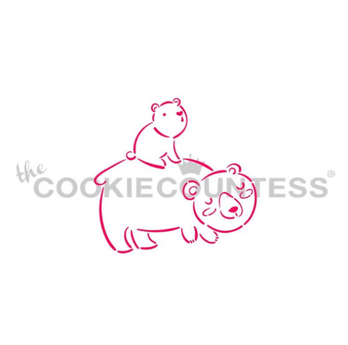 Momma and Baby Bear Cookie Stencil