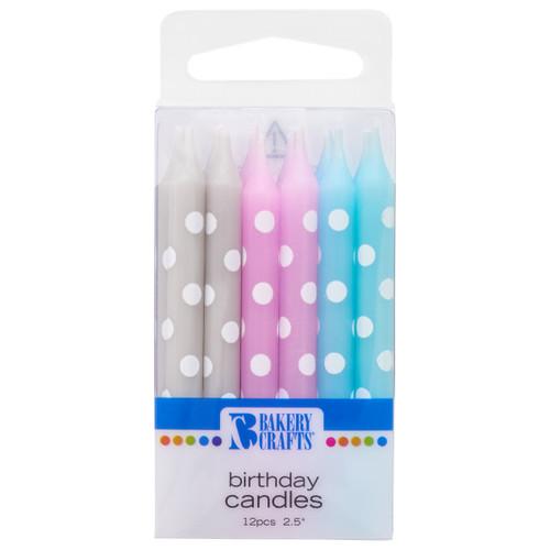 Baby Mix Polka Dot Candles
