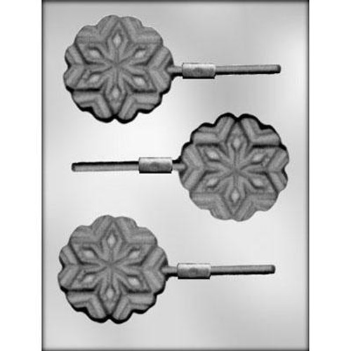 Snowflake Large Chocolate Mold Lolly