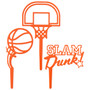 Basketball Slam Dunk Cake Topper (3pc)