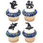 Spooky Fun Cake or Cupcake Toppers (8pc)