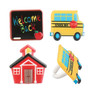 School Assorted Cake and Cupcake Toppers