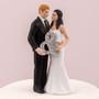 Mr & Mrs Holding Ampersand Wedding Cake Topper