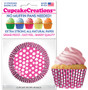 Raspberry Dots Cupcake Liners