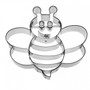Bee Impression cookie Cutter